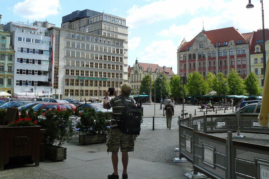 Blick auf den Salzplatz (Salzring) - vor 1945 Blücherplatz