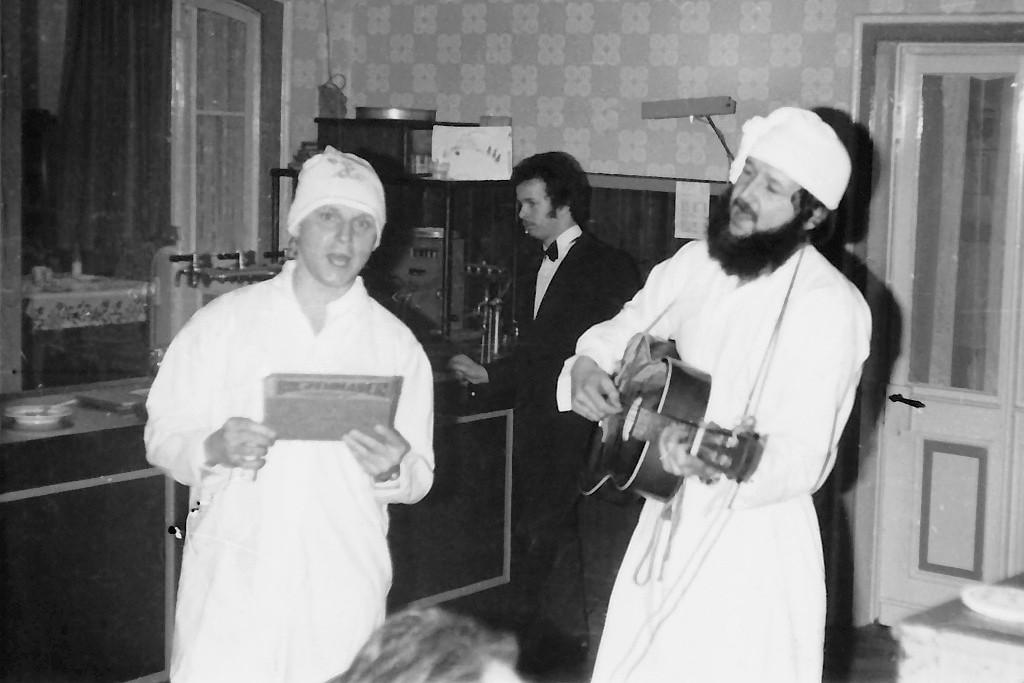 Steffen und ich bei der Bolzenhauer Show 1980