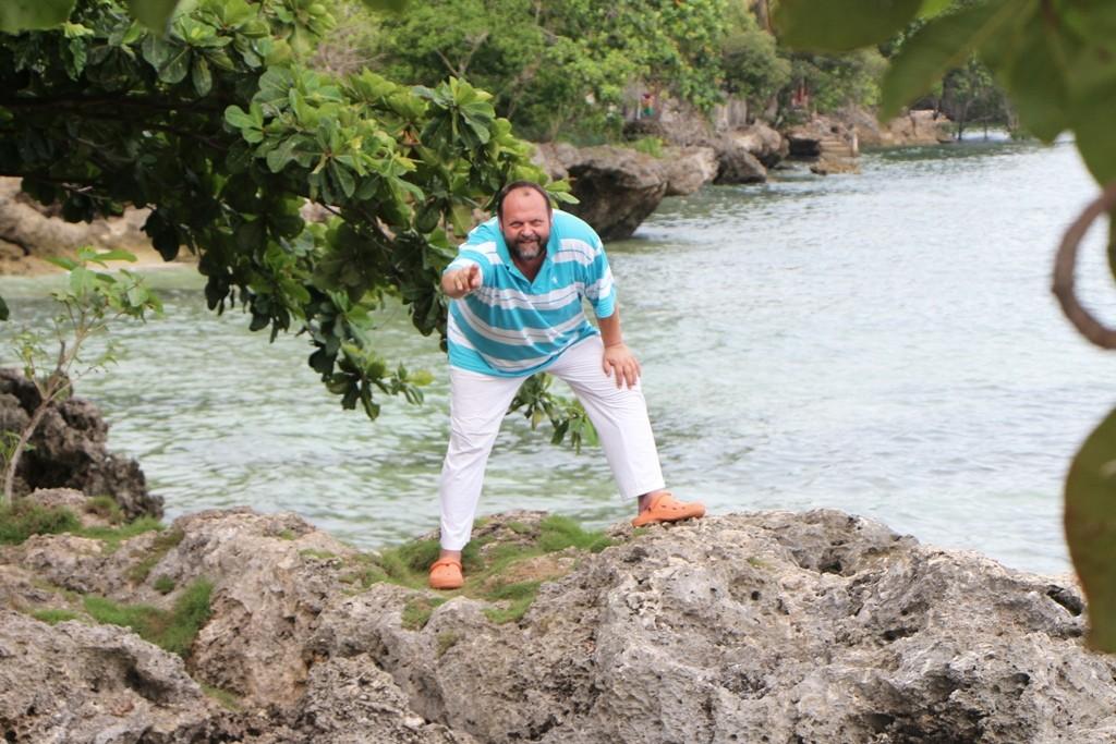 Udo auf den Klippen von Punta Cruz, dicht am Watch Tower!