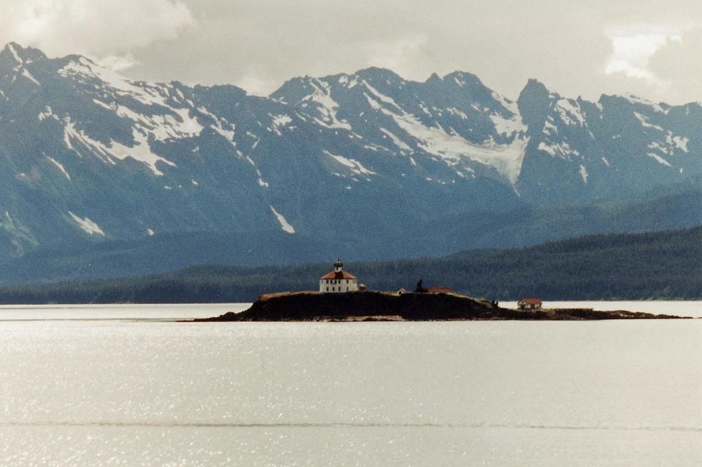 Der Eldred Felsen+Lighthouse Lynn Kanal