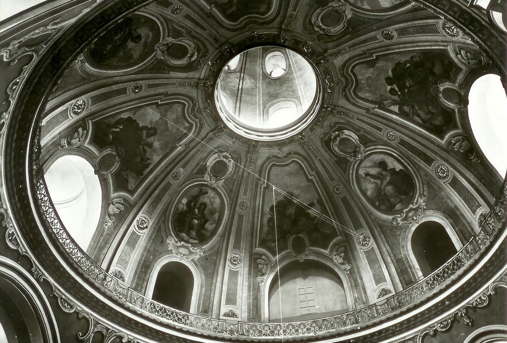 Dresden - in der Frauenkirche, Kuppelansicht