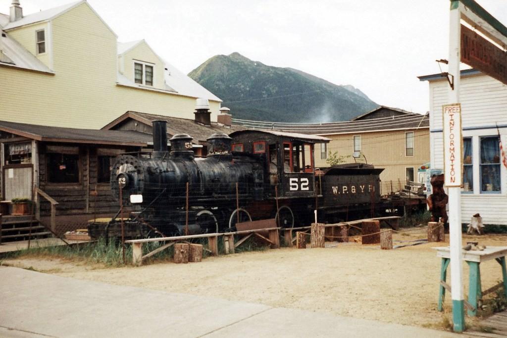 Alte Lok aus der Gründerzeit der WP&YR in Skagway