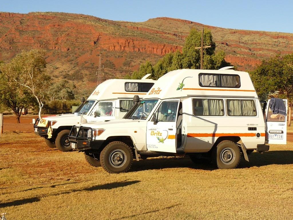 Fertig mit dem Frühstück und ab gehts bei Kaiserwetter in die Gorges des Karijini NP