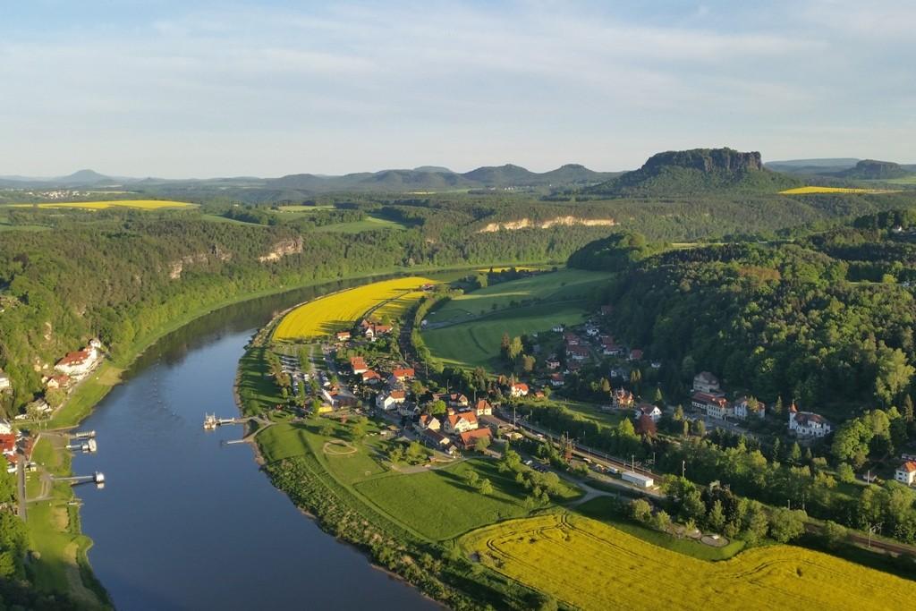 Das Elbetal in Blickrichtung Königstein