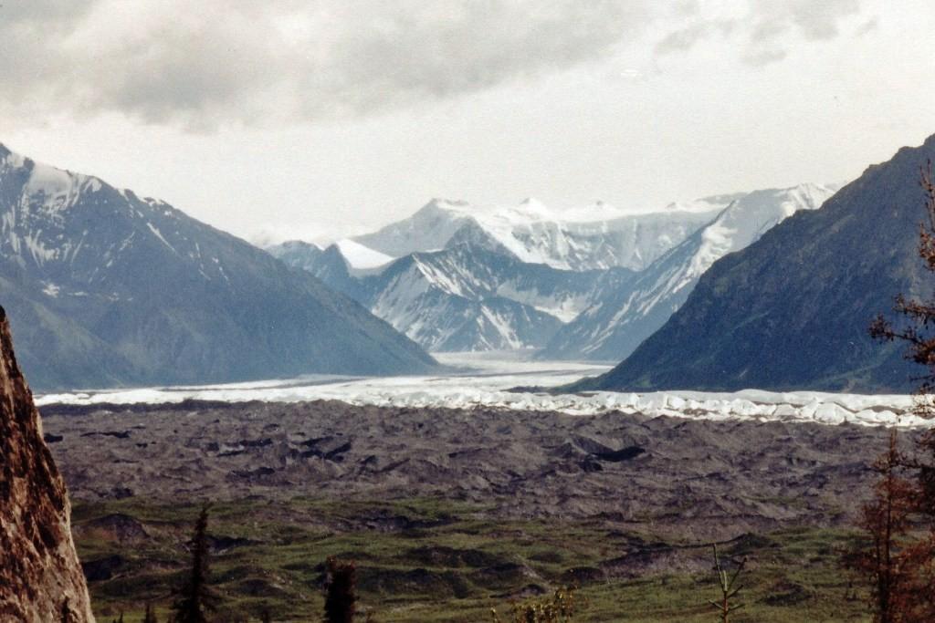 Der Matanuska-Gletscher am Glenn Hwy