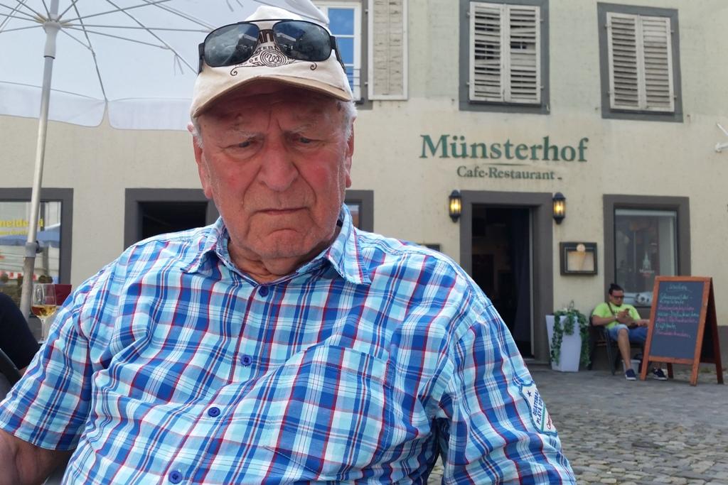 Dieter auf dem Münsterplatz am Münsterhof