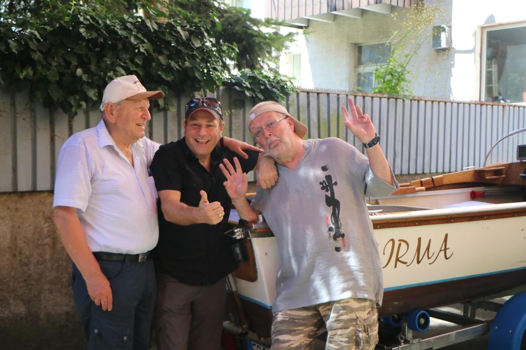 Das Motorboot, -IRMA- mit kompletter Bodenseetauglichkeit mit der Crew, Dieter, Martin und ich