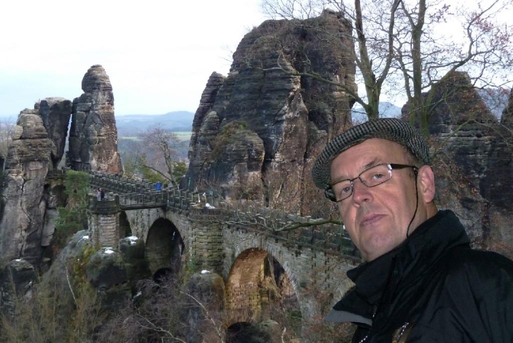 Walter an der Basteibrücke