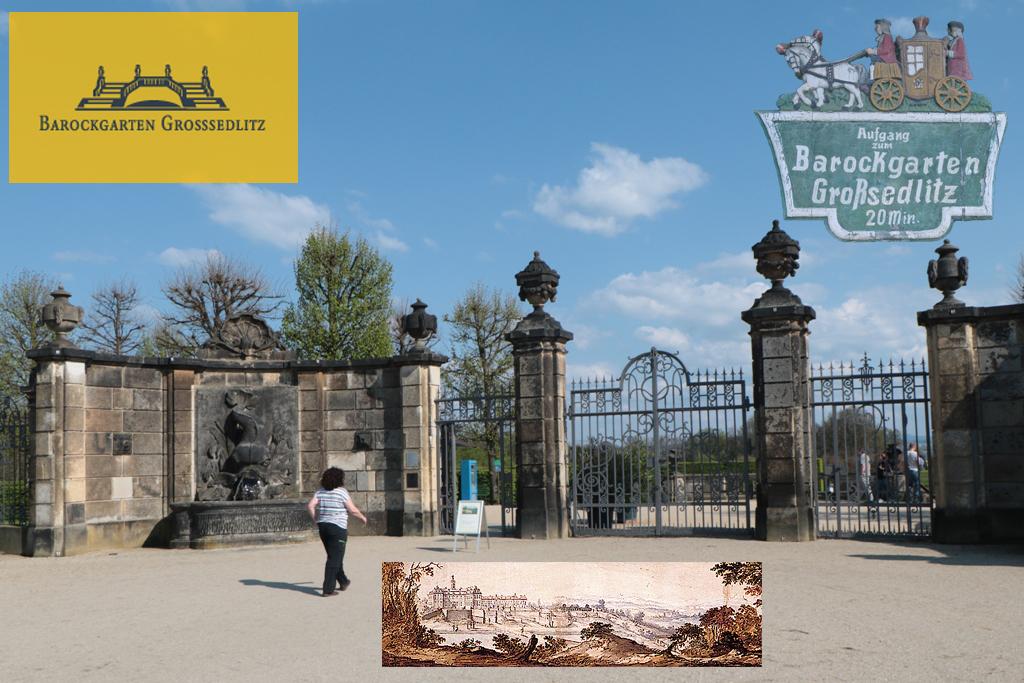 Eingang zum Barockgarten Großsedlitz, dem Kleinversailles von Augustvdem Starken