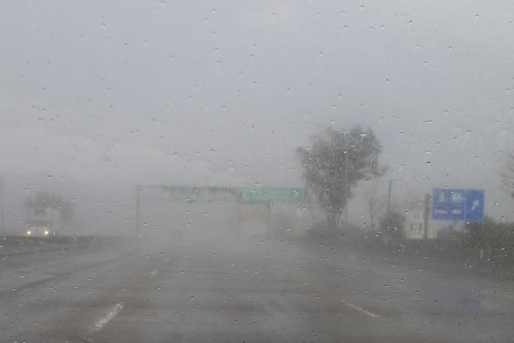 ...so gut ist die Sicht auf der I 80 über Sacramento in Richtung Reno!