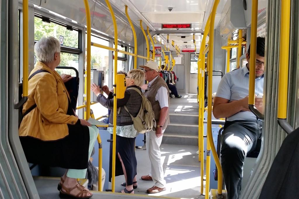 Die öffentlichen Verkehrsmittel der Stadt brachten uns kostenlos überall hin, dankeschön nochmals!