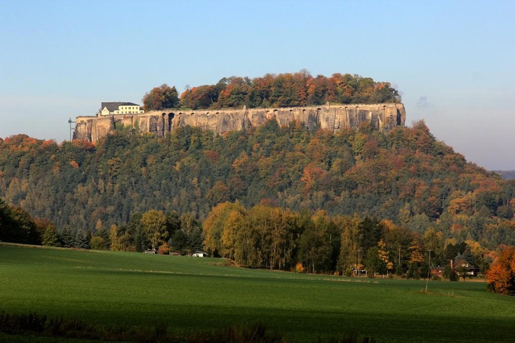 Die mittelalterliche Festung Königstein in ihrer ganzen Pracht