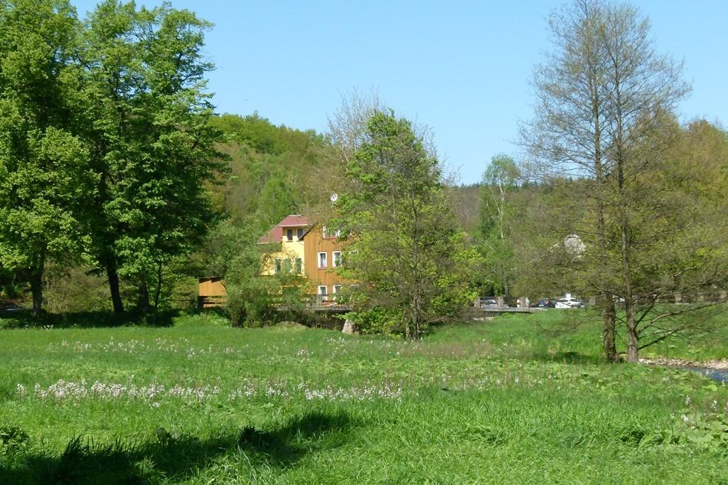 Die Bockmühle, hier beginnt das mittlere Polenztal