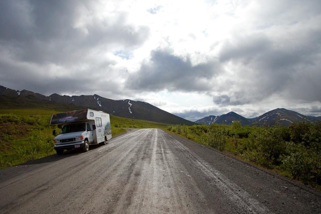 Kurze Verschnaufpause und Fotosession hinter dem North Fork Pass
