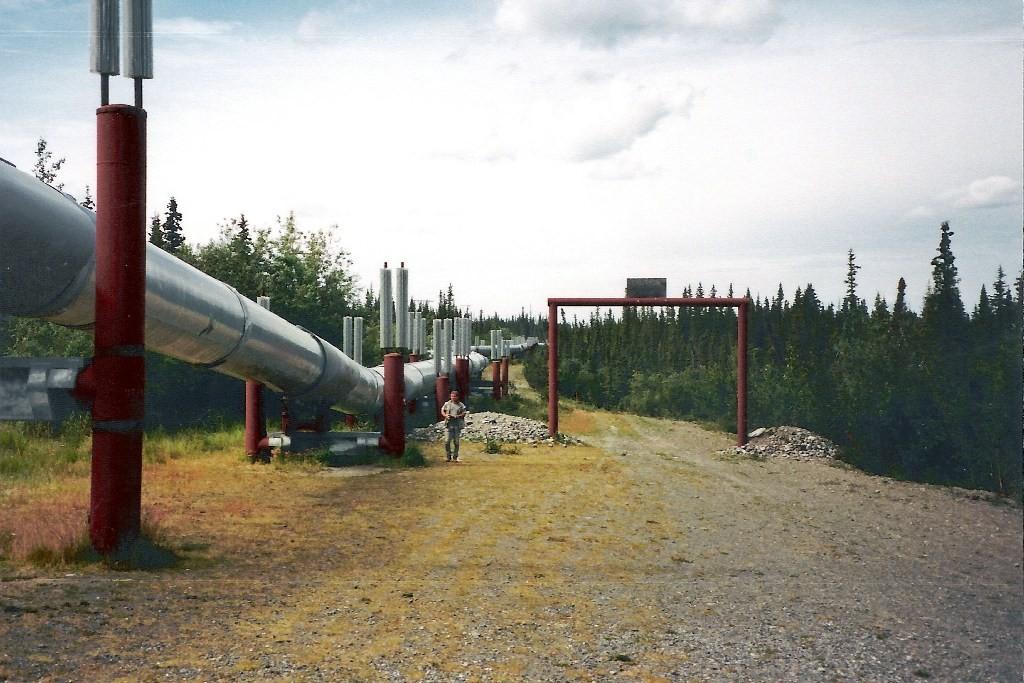 An der rund um die Uhr bewachten und 1.287 km langen Trans-Alaska-Pipeline (TAP)