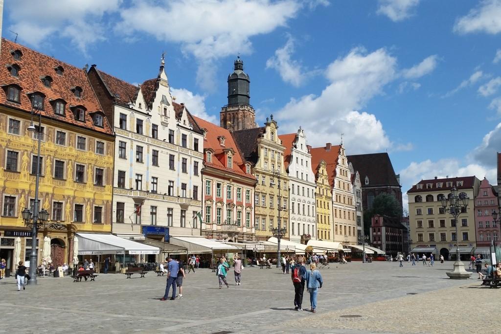 Renaissancebürgerhäuser sowie gotische und barocke Bürgerhäuser rings um den Rynek