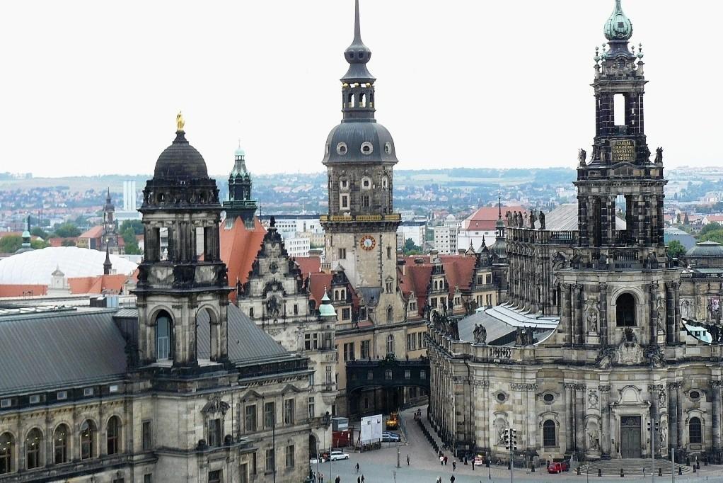 Ständehaus, Georgentor, Schlossturm, Schlossplatz, Katholische Hofkirche