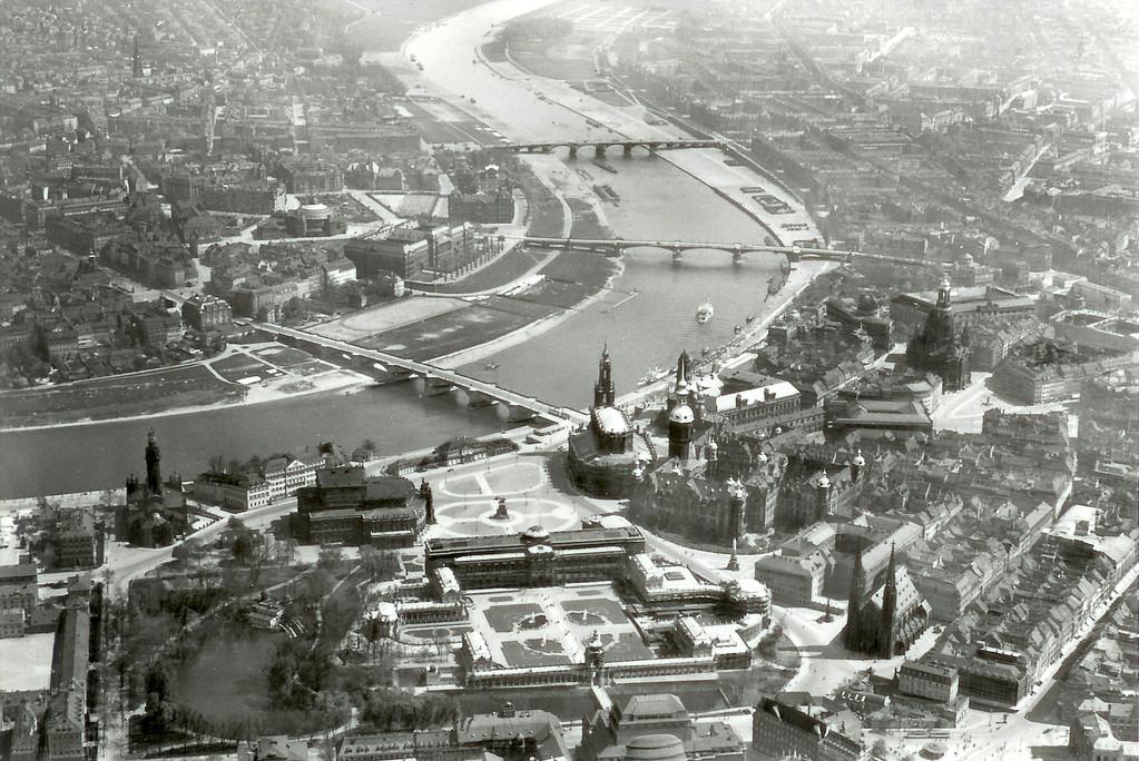Dresden - Altstadt, Luftbild