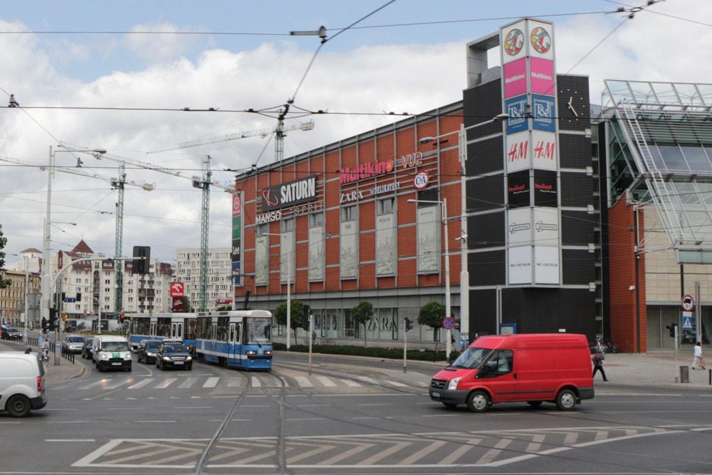 ...das moderne Breslau, ein Shoppingcenter am anderen, nicht besonders schön anzusehen, fanden wir!