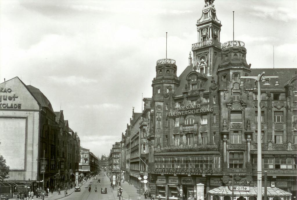 Dresden - Prager Str. vom Hbf.-Wiener Platz aus gesehen