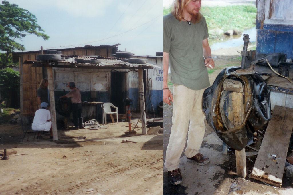 ...so eine Reparatur der Reifenpanne ist für den Mitteleuropäer schon ein tierisches Erlebnis
