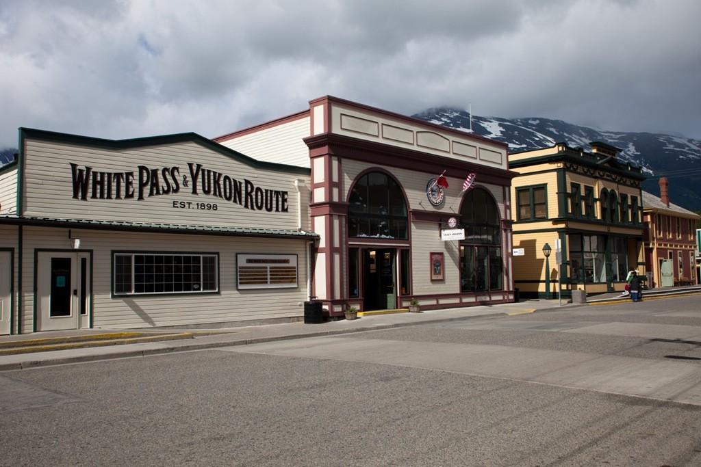 Das ist der Bahnhof der White Pass Railway