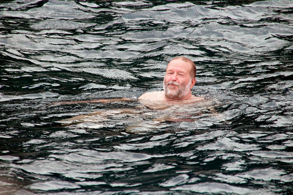 Ein wunderbares Gefühl, relativ kaltes Meerwasser trifft auf warmer Haut!