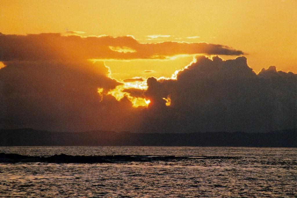 Sonnenuntergänge sind stets eine herrliche Naturerscheinung, auf dem Galapagos Archipel ebenso