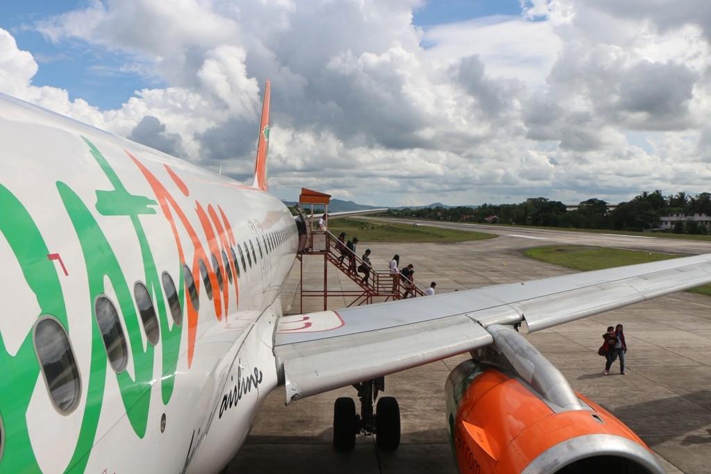 Wir landeten, von Manila kommend, am Anfang unserer Reise mit dem Flieger auf Bohol