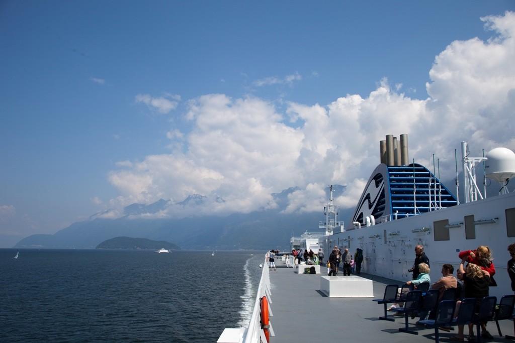 Auf großer Fahrt in Richtung Nanaimo auf Vancouver Island