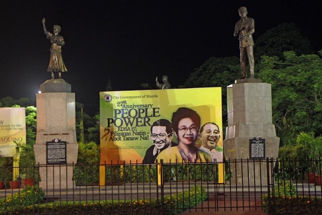 Die Politik ist überall auf der Welt großflächig sichtbar, auch hier in Manila