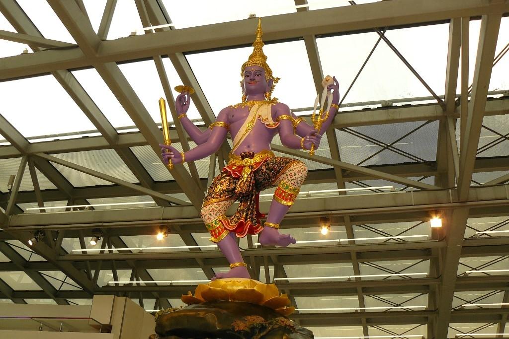 ...und das ist er, Gott Vishnu