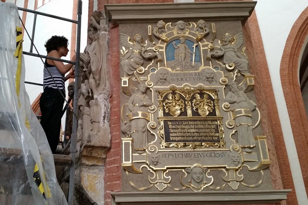 In der Kirche wird ständig restauriert