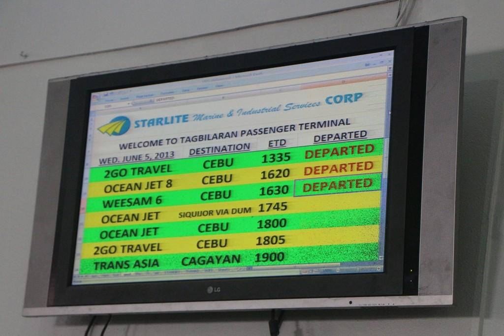 Wir haben noch eine Weile Zeit um von Tagbilaran nach Dumaguete zu schippern!