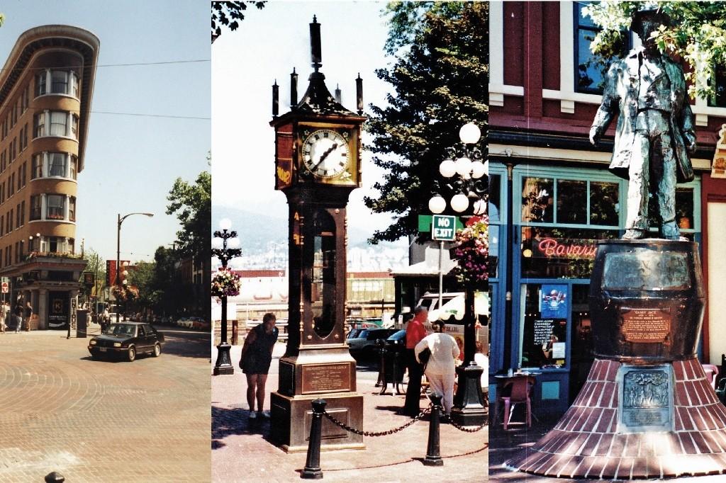 Dampfuhr und Gassy Jack in Gastown, Vancouver