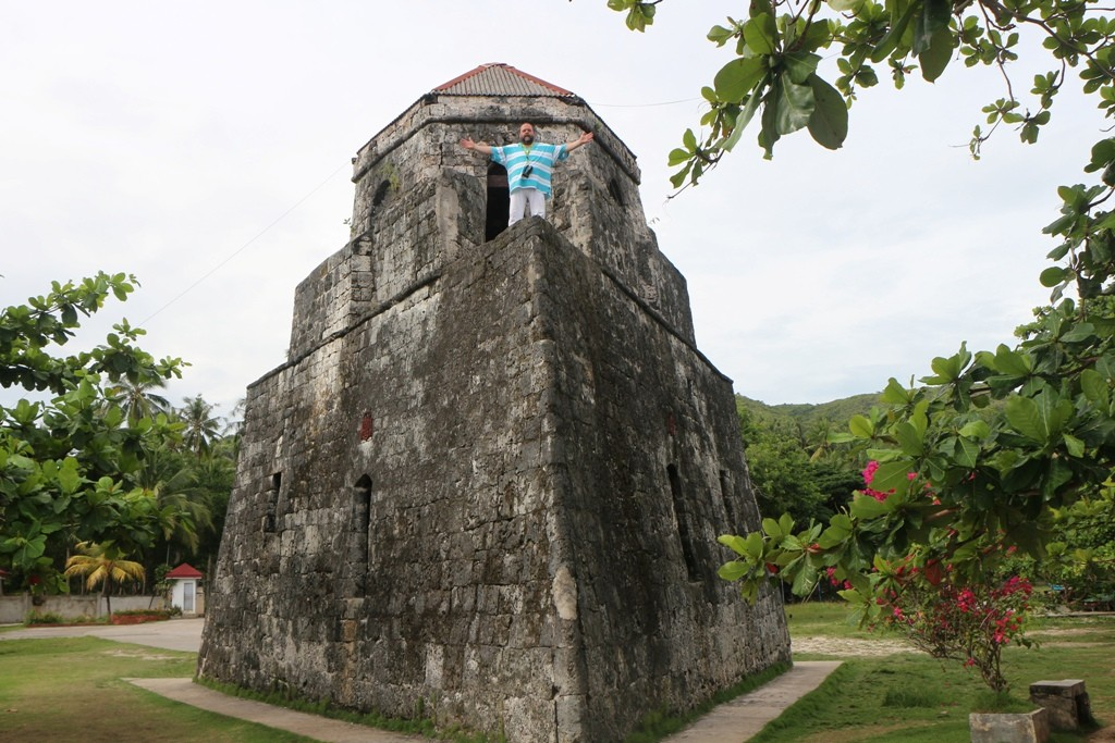 Von dieser Stelle des dreieckigen Wachturms kann man bei guter Sicht Cebu, Siquijor und Mindanao sehen!