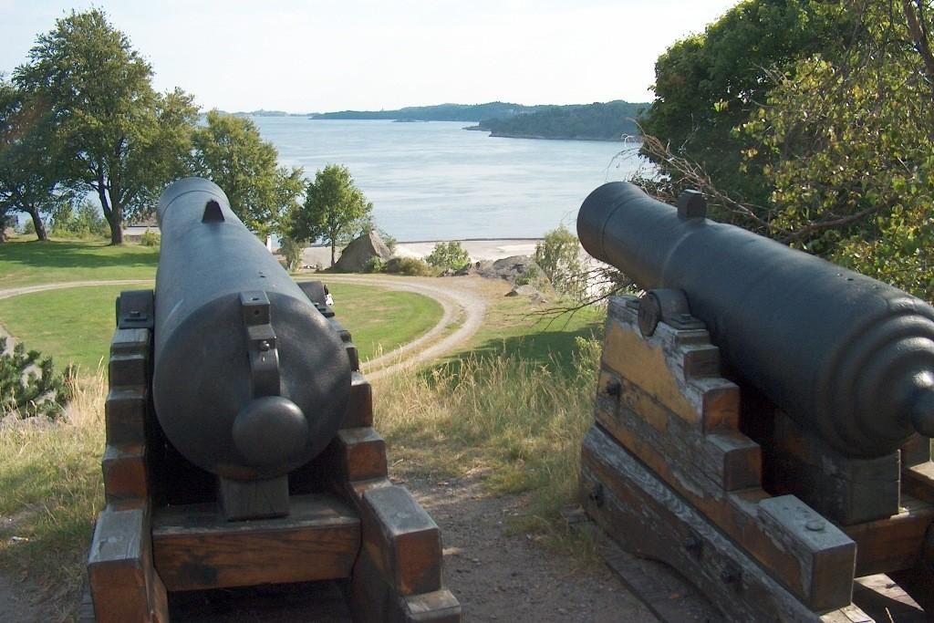 Einstige Verteidigungsanlage von Larvik.
