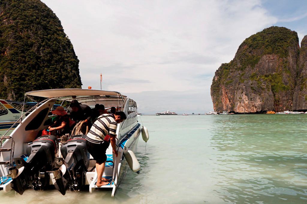 Unser Speedboat ruft zum an Bord gehen auf und in wenigen Minuten starten wir wieder in Richtung Monkey Beach