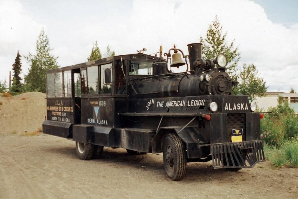 ...hier in Kenai (ca. 7100 Ew.) Dampfmobil