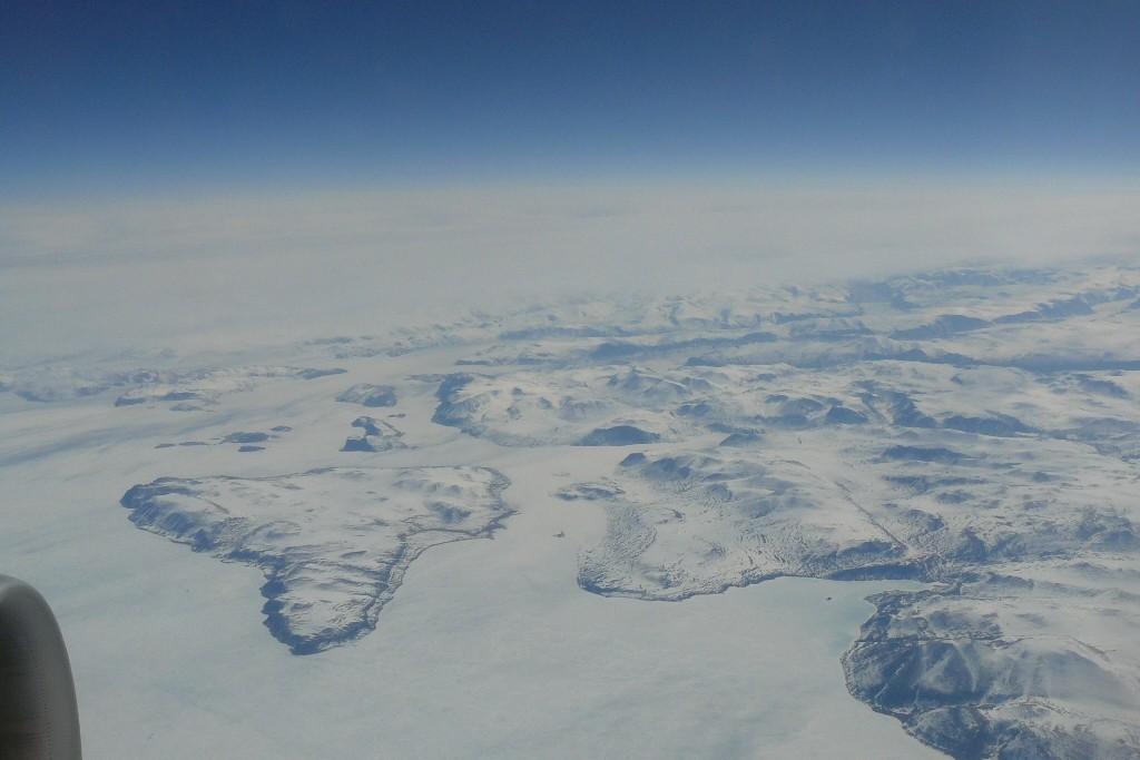 Blick auf Regionen von Baffin Island.