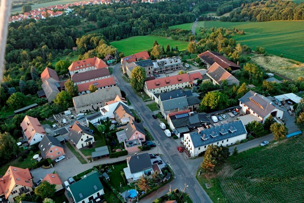 Das Dorf Golberode bei Goppeln, unweit der Babisnauer Pappel