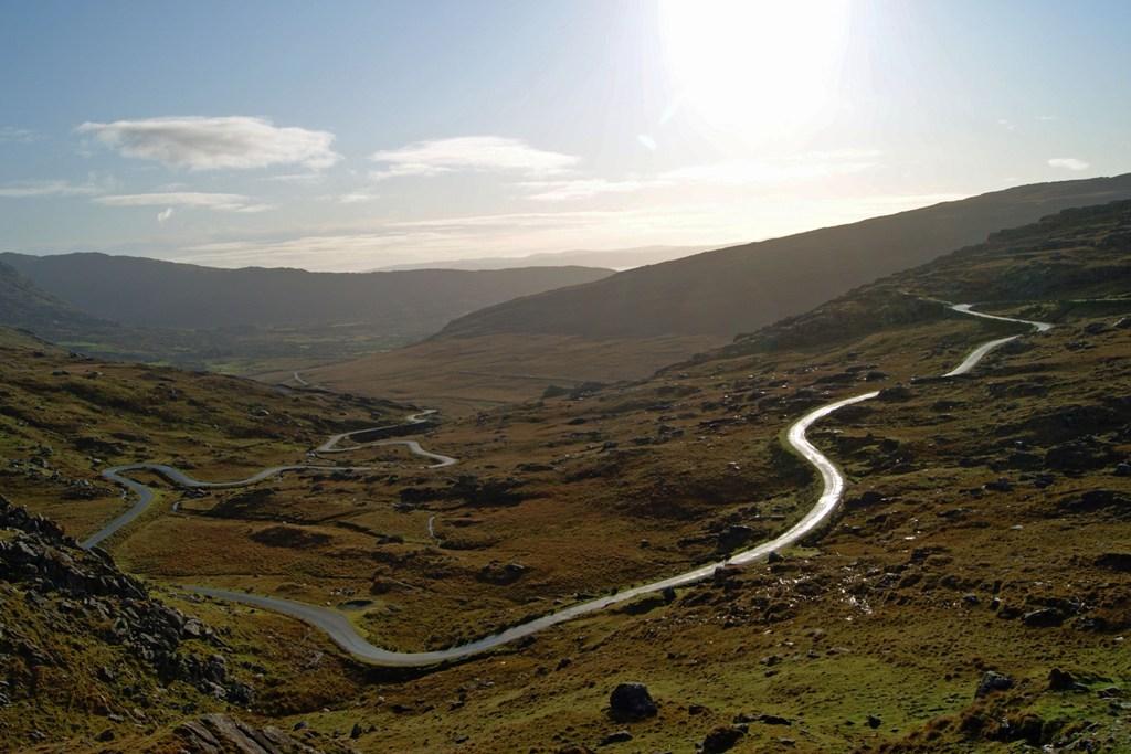 Vom Healy Pass in Richtung Adrigole geschaut
