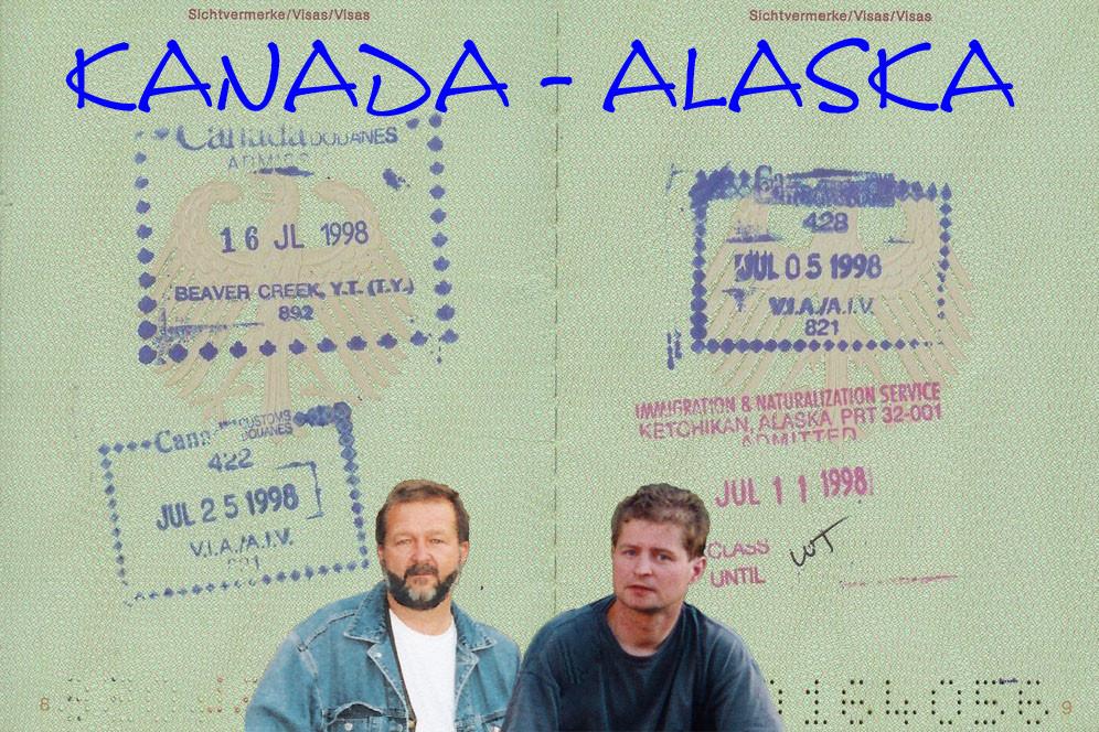 Wir beide machen uns im Juli 1998 in die Spur nach Kanda und Alaska
