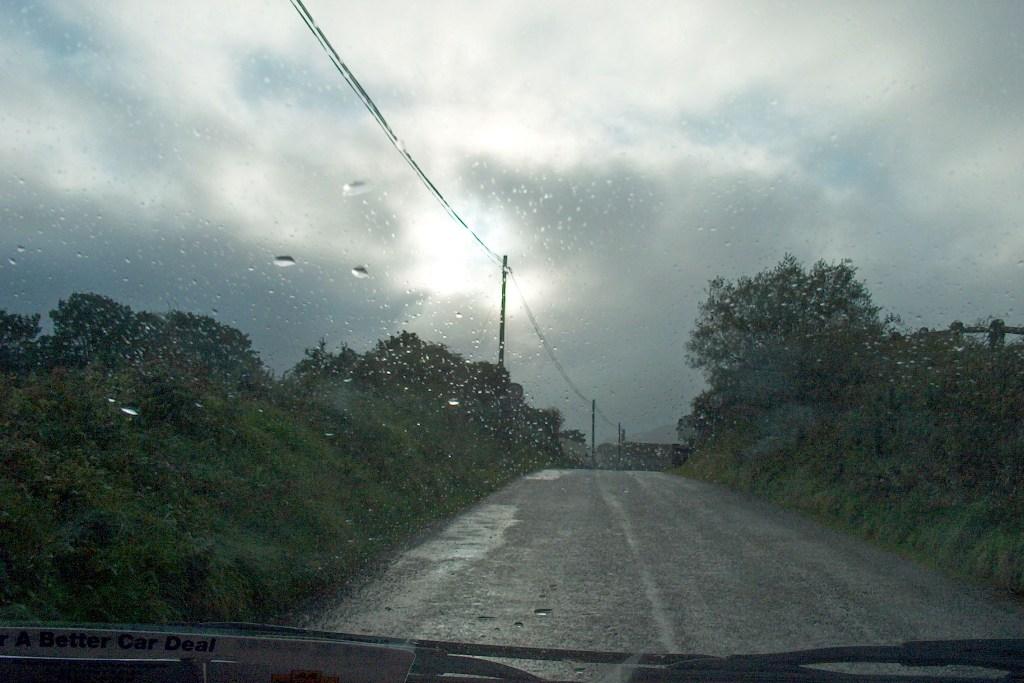 Typisch irisches Wetter an der Südwestküste von Irland