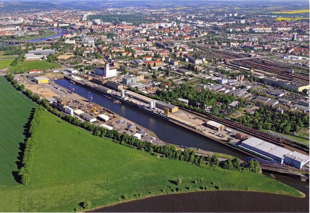 Dresden - Alberthafen dieser Tage