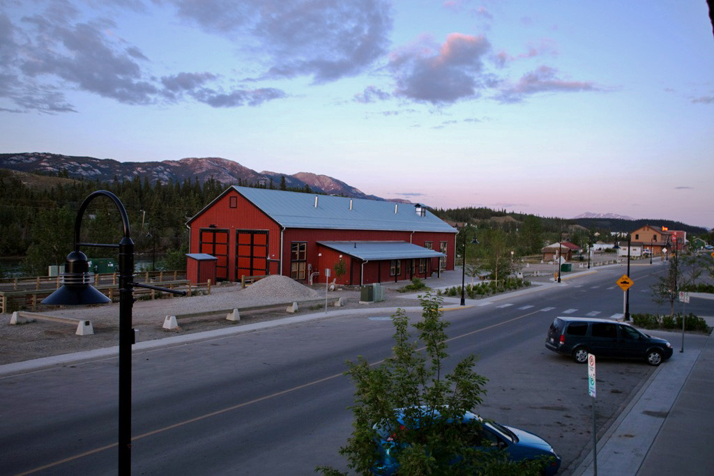 Blick aus dem Hotelfenster in Whitehorse am Vorabend des Startes!