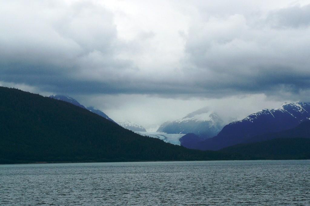 Der erste Gletscher am Lincoln Island Pass den wir sehen und fotografieren