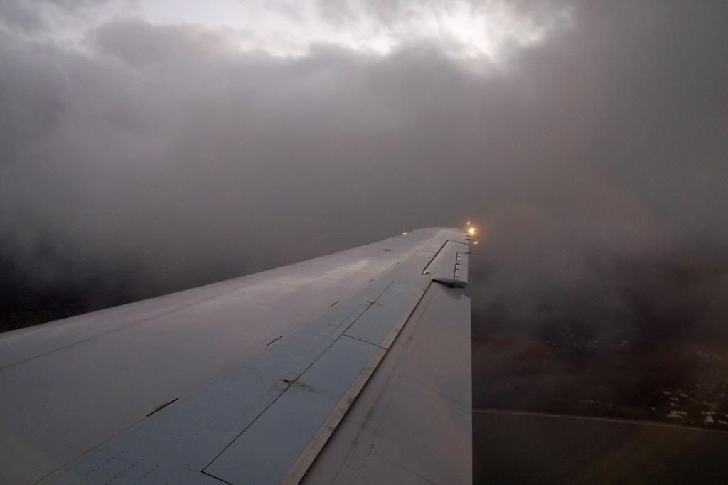 Kurz vor der Landung in Cairns, mieses Wetter!