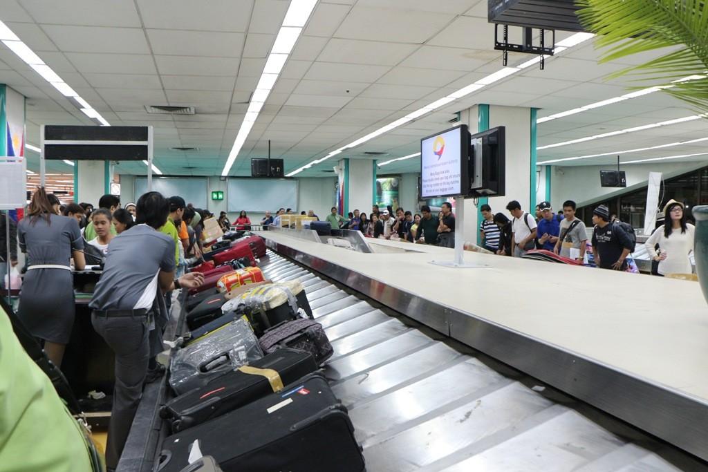 Warten auf unser Gepäck, bei über 500 Fluggästen fast eine Ewigkeit.