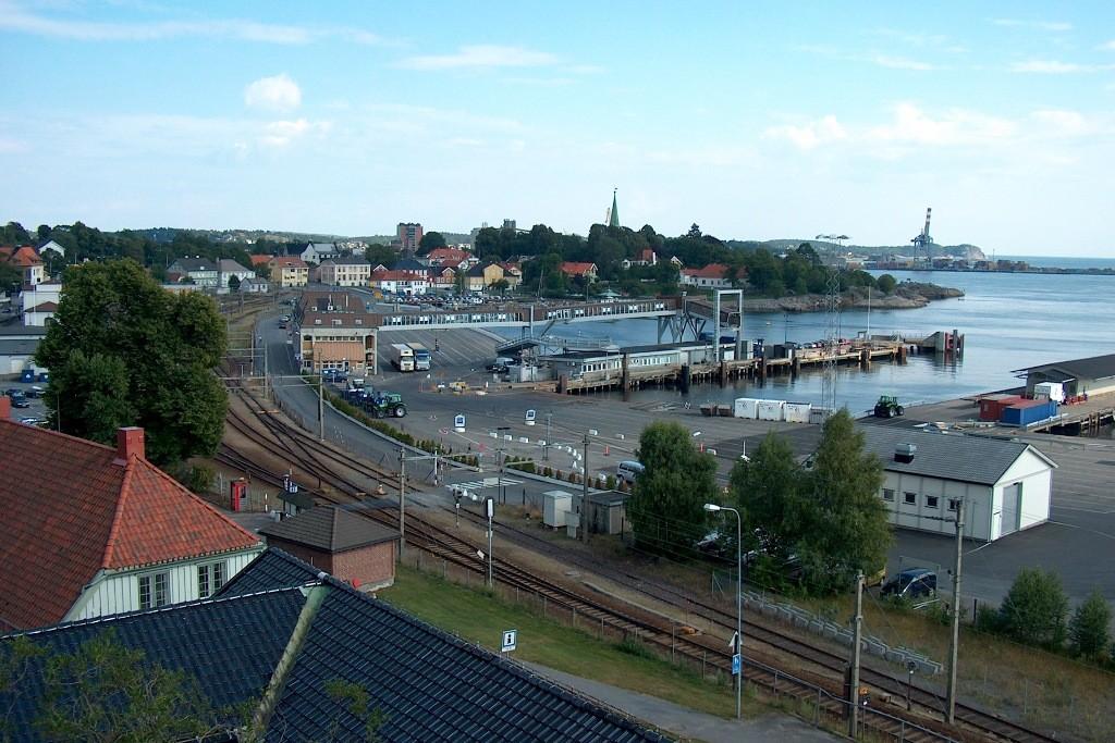 Fährterminal in Larvik.
